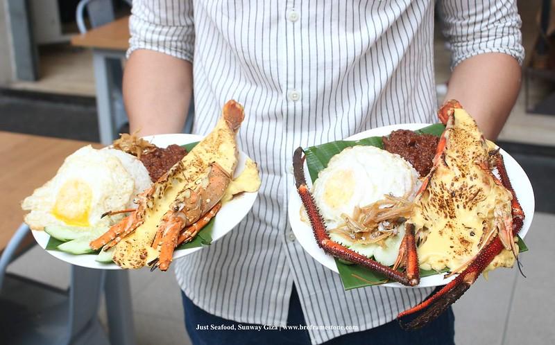 Just Seafood Nasi Lemak Udang Karang