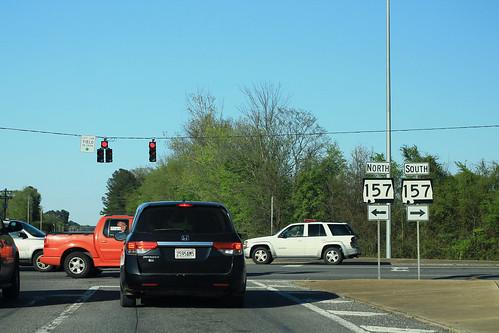 Old AL24 East - AL157 Signs - Moulton