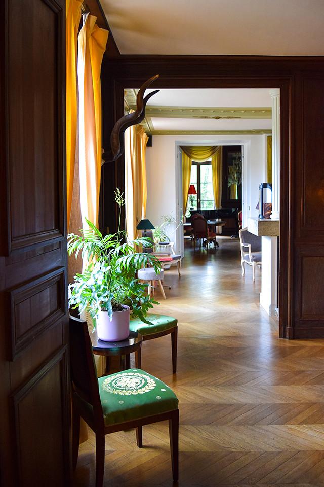 Main Hallway at Château les Muids #loire #france #travel