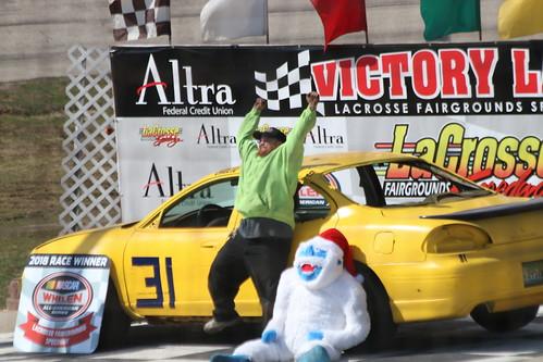4.22.18 La Crosse Fairgrounds Speedway - Street Stock winner 31 Clayton Haessig
