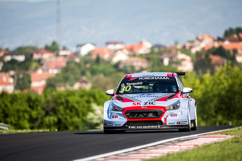 30 TARQUINI Gabriele (ITA), BRC Racing Team, Hyundai i30 N TCR, action during the 2018 FIA WTCR World Touring Car cup, Race of Hungary at hungaroring, Budapest from april 27 to 29 - Photo Thomas Fenetre / DPPI