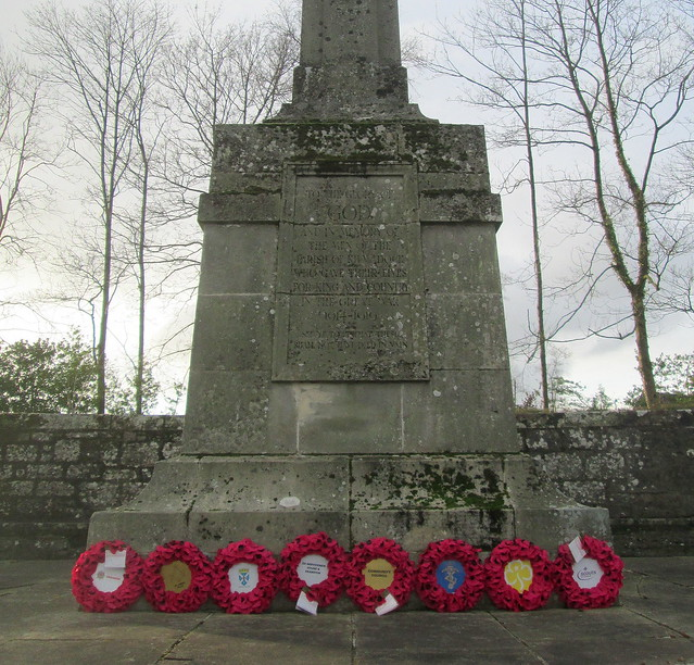 Close up of Kilmadock Parish War Memorial, Doune
