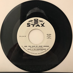 OLLIE & THE NIGHTINGALES:I GOT A SURE THING(RECORD SIDE-B)