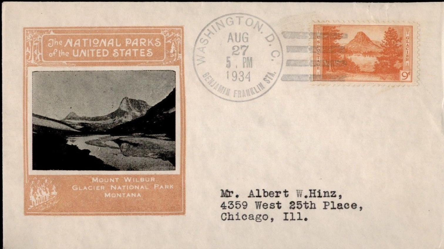 United States - Scott #748 (1934) first day cover cancelled at Benjamin Franklin Station, Washington, D.C.