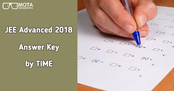 jee advanced answer key by time check here