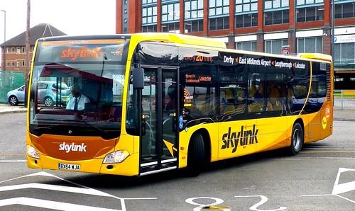 BX64 WJA 'Kinchbus' No. 911, 'Skylink'. Mercedes-Benz Citaro on Dennis Basford's railsroadsrunways.blogspot.co.uk'