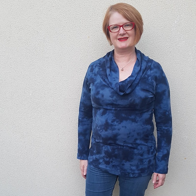 Vogue 8634 in soft viscose knit from Darn Cheap Fabrics