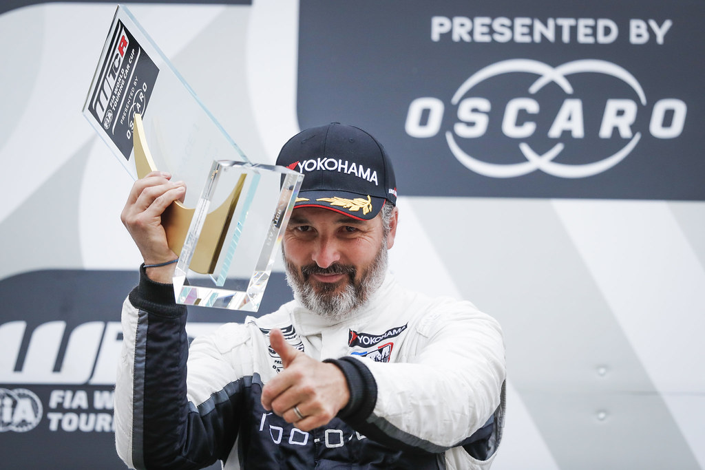 MULLER Yvan (FRA), YMR, Hyundai i30 N TCR, portrait podium during the 2018 FIA WTCR World Touring Car cup of Nurburgring, Nordschleife, Germany from May 10 to 12 - Photo Florent Gooden / DPPI