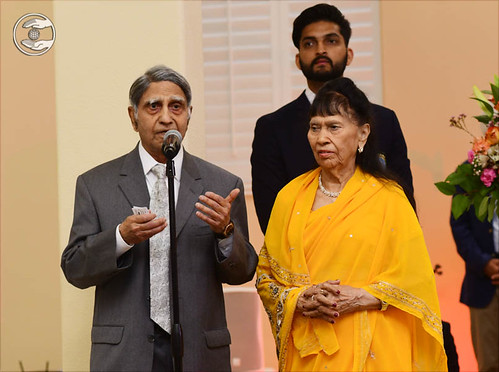 Branch Pramukh Nand Lal Tahiliani and his wife from Phoenix