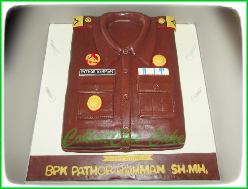 Cake Baju Kejaksaan Bpk PATHOR RAHMAN SH.MH 20 cm