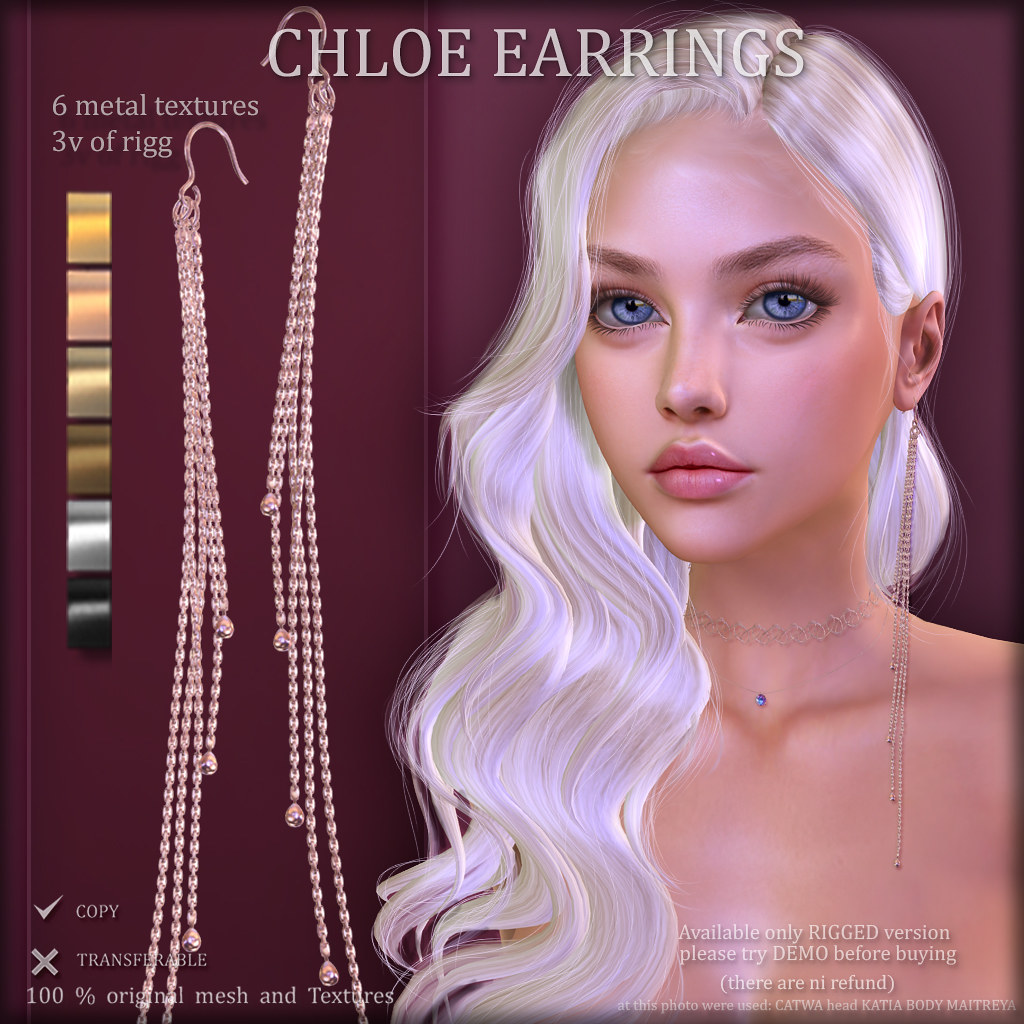 CHLOE EARRINGS (at COSMOPOLITAN)