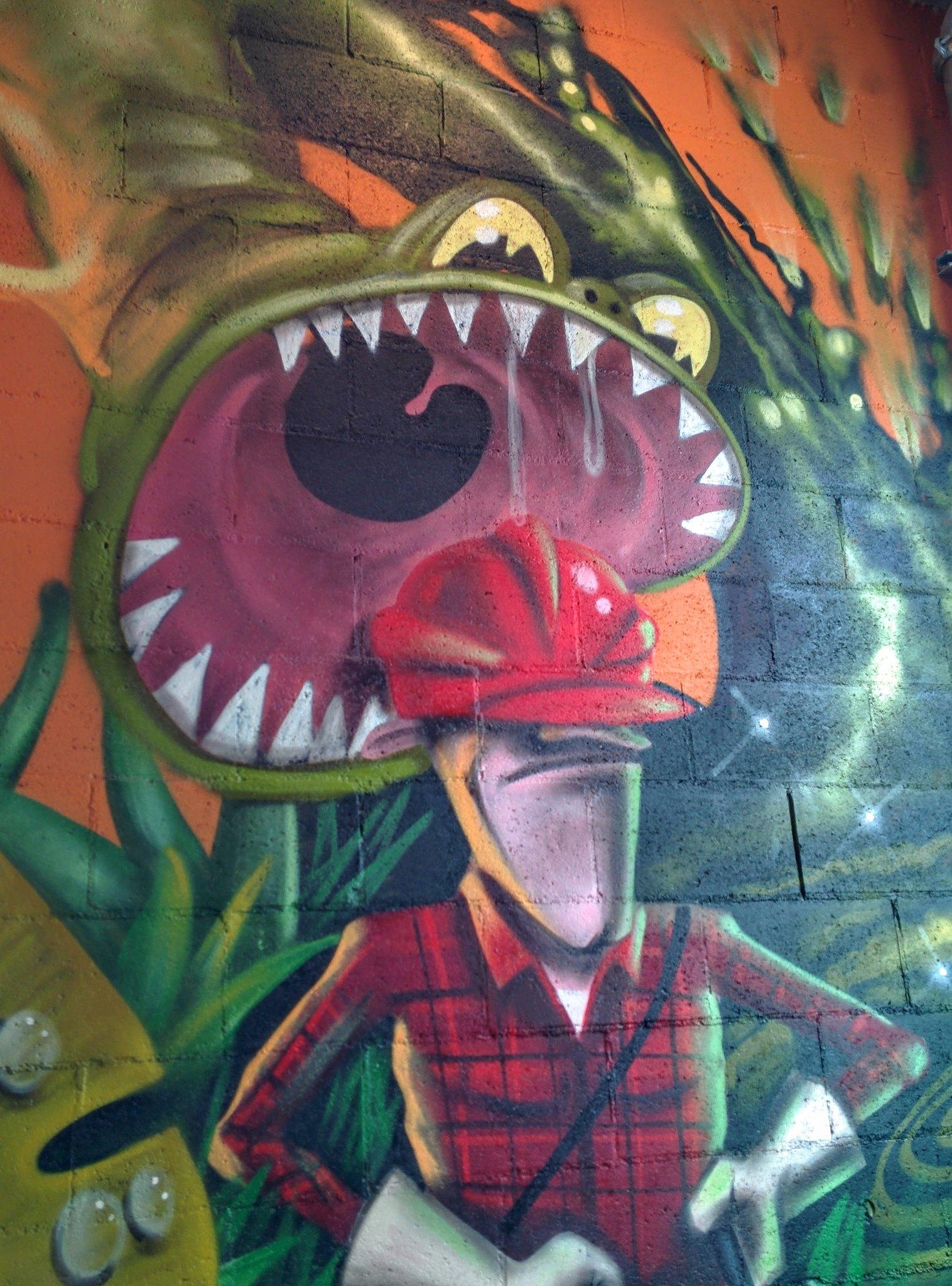 Graffiti in the hostel