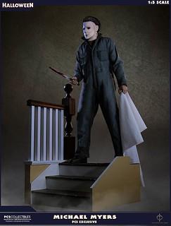 在那個夜晚,殺人魔回來了..... Pop Culture Shock《月光光心慌慌》麥克·邁爾斯 Michael Myers 普通/EX 版 1/3 比例全身雕像作品