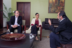 Visita da ex-senadora Marina Sivla