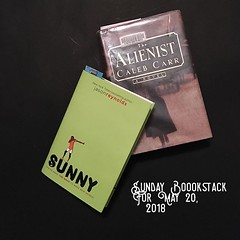 Here's my Sunday #bookstack. This week I'm finishing Sunny and starting The Alienist. What are you reading this week?