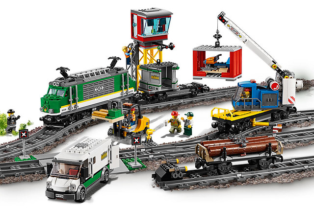 LEGO City 60198 Le train de marchandise