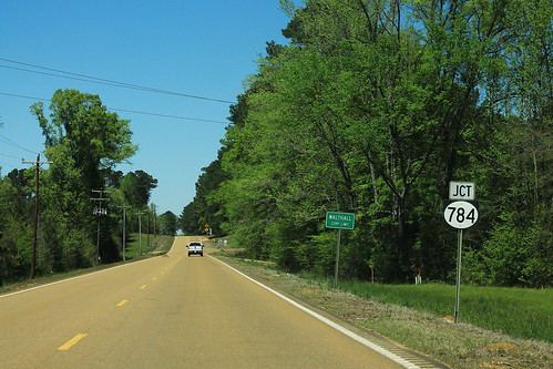 MS9 North - Jct MS784 Sign - Walthall