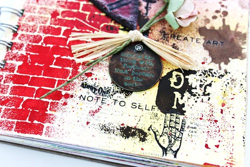 Meihsia Liu Simply Paper Crafts Mixed Media Art Journal Tim Holtz Stencil Simon Says Stamp 4