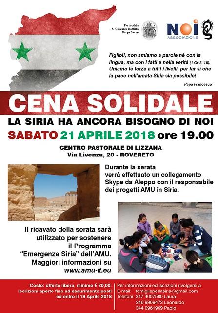 Cena Rovereto per la Siria_21 aprile 2018