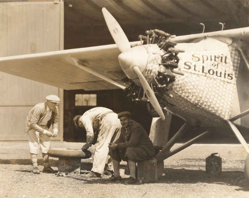Lindbergh and the Spirit of St. Louis visited Milwaukee, Wisconsin, on August 20 and 21, 1927.