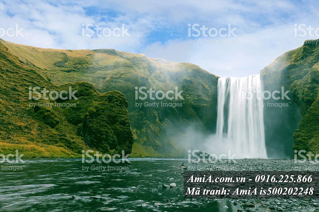 Tranh đẹp thác nước phong cảnh thế giới