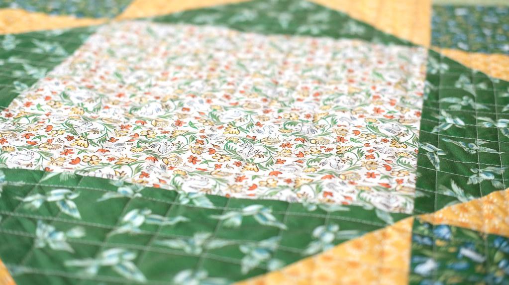 April Giant Block Quilt