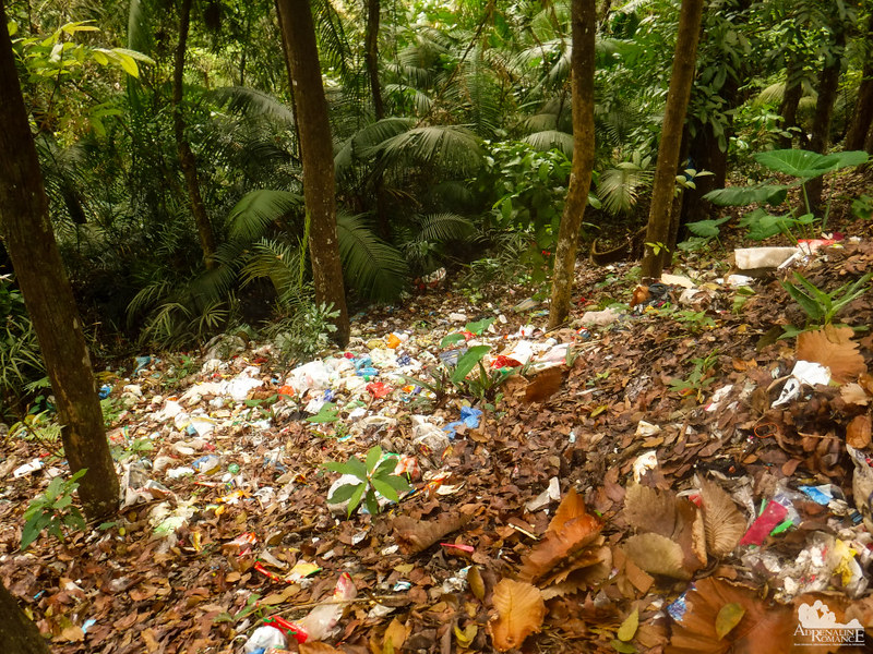 Trash in the protected area :(