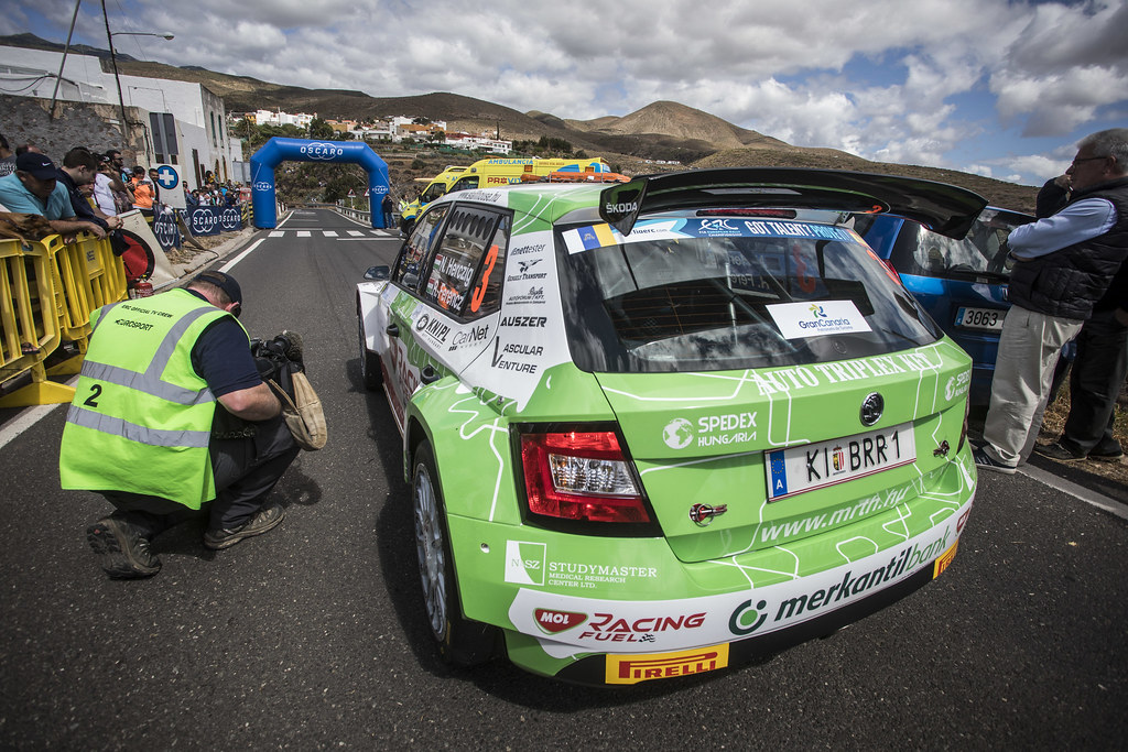 03 HERCZIG Norbert (hun), FERENCZ Ramon (hun), SKODA FABIA R5, action during the 2018 European Rally Championship ERC Rally Islas Canarias, El Corte Inglés,  from May 3 to 5, at Las Palmas, Spain - Photo Gregory Lenormand / DPPI