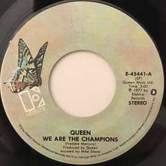 QUEEN:WE ARE THE CHAMPIONS(LABEL SIDE-A)