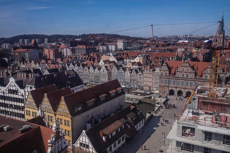 The city view gdansk poland puola