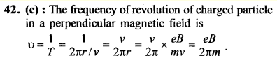 NEET AIPMT Physics Chapter Wise Solutions - Moving Charges and Magnetism explanation 42