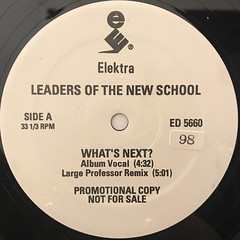 LEADERS OF THE NEW SCHOOL:WHAT'S NEXT(LABEL SIDE-A)