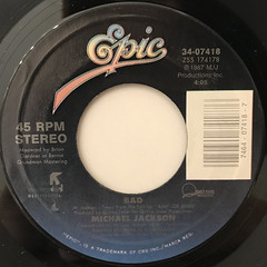 MICHAEL JACKSON:BAD(LABEL SIDE-A)