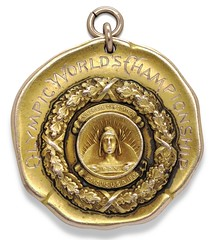 1904 Olympic Gold Medal for Basketball obverse