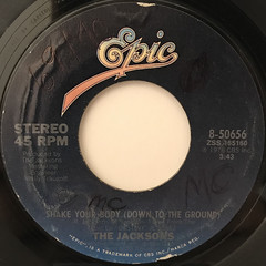 THE JACKSONS:SHAKE YOUR BODY(DOWN TO THE GROUND)(LABEL SIDE-A)