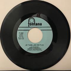 JANE BIRKIN & SERGE GAINSBOURG:JE T' AIM... MOI NON PLUS(RECORD SIDE-A)
