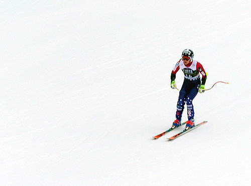 Laurenne Ross (USA). Ski World Cup, Crans-Montana 03/03/2018