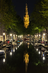 Amsterdam by night.