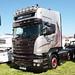 Jobe Transport Scania R580 Silver Griffin Peterborough Truckfest 2018