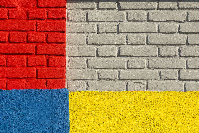 Wall with primary colors