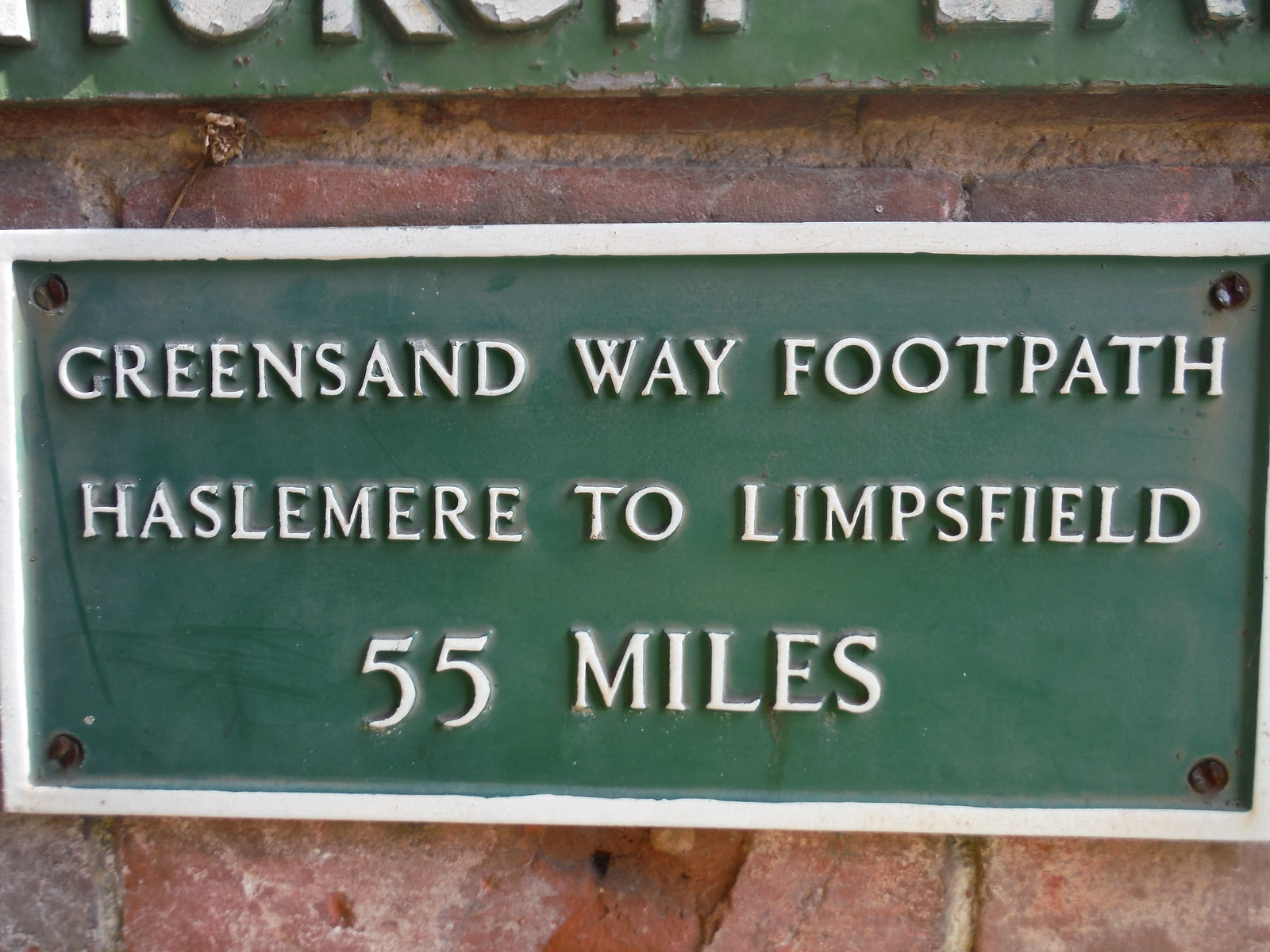 Start of Greensand Way, Haslemere SWC Walk 48 Haslemere to Midhurst (via Lurgashall or Lickfold)