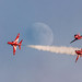 Red Arrows and the Harvest moon by andy.palmer25@yahoo.co.uk