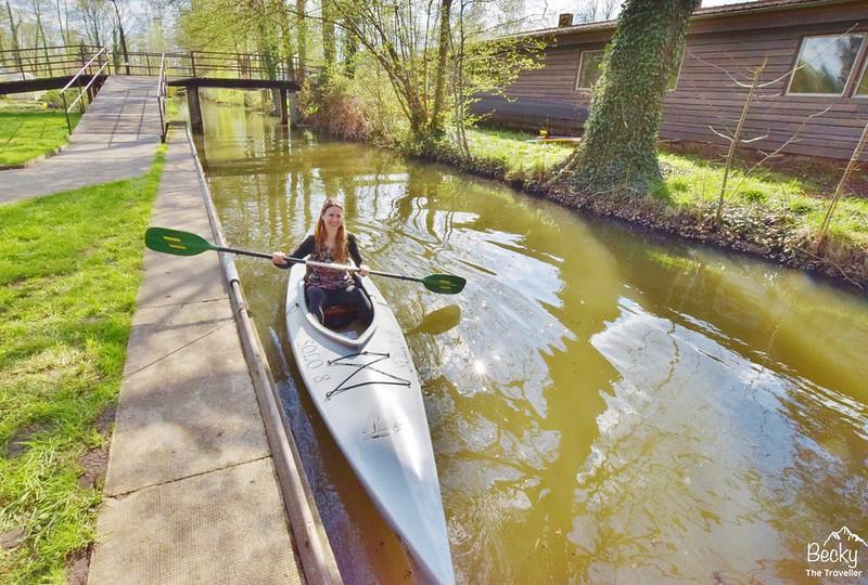 Canoeing in Lubbenau , Spreewald - Brandenburg, Germany