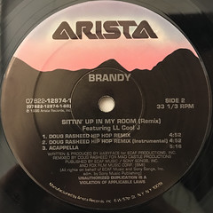 BRANDY:SITTIN' UP IN MY ROOM(REMIX)(LABEL SIDE-B)