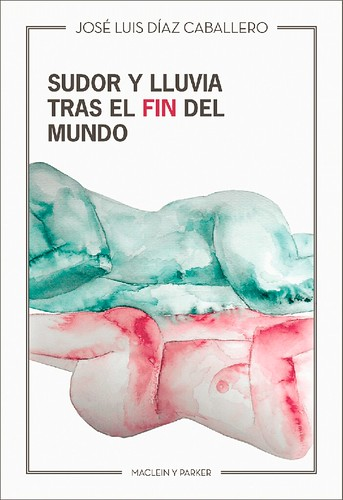 Portada Sudor y lluvia tras el fin del mundo novela de José Luis Díaz Caballero publicada por Maclein y Parker