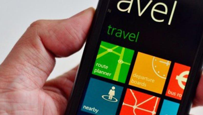 Ilustrasi. Aplikasi untuk travel