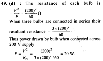 NEET AIPMT Physics Chapter Wise Solutions - Current Electricity explanation 49