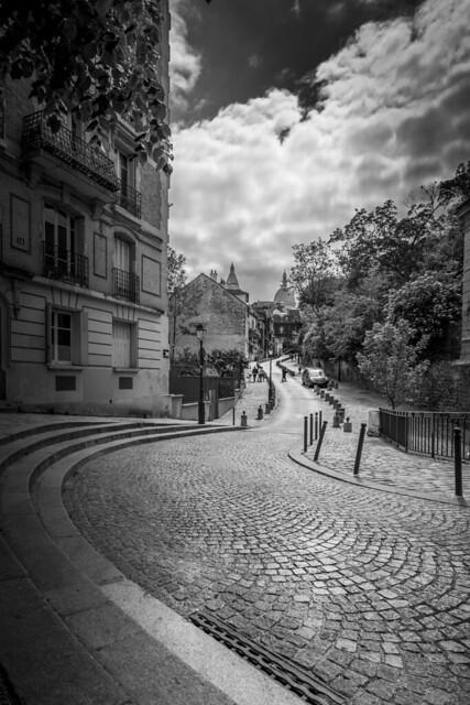 Montmarte Paris schwarz weiß