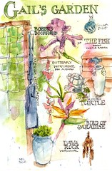 Gail's Garden Sketch Collage