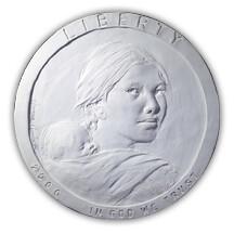 Sacagawea dollar plaster